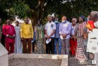 When Prof Opoku-Agyemang visited grave of Mahama's father [Photos]