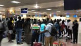 Passengers stranded at Airport as staff withdraw services [Photos]